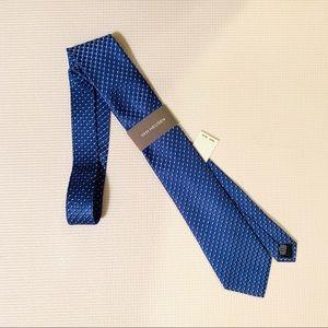 Van Heusen Mens Suit & Work Tie Blue & Silver NWT